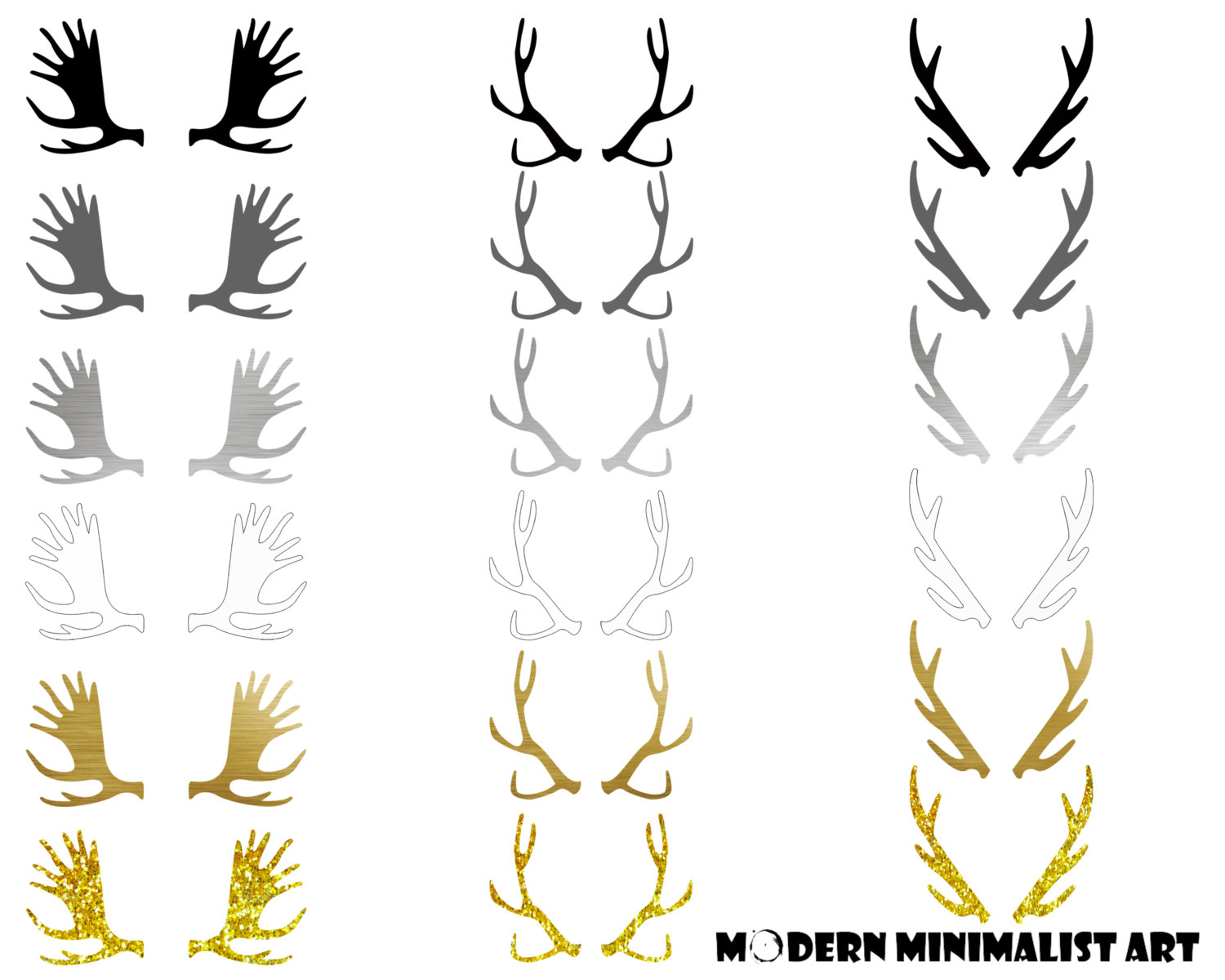 Antlers clipart #14