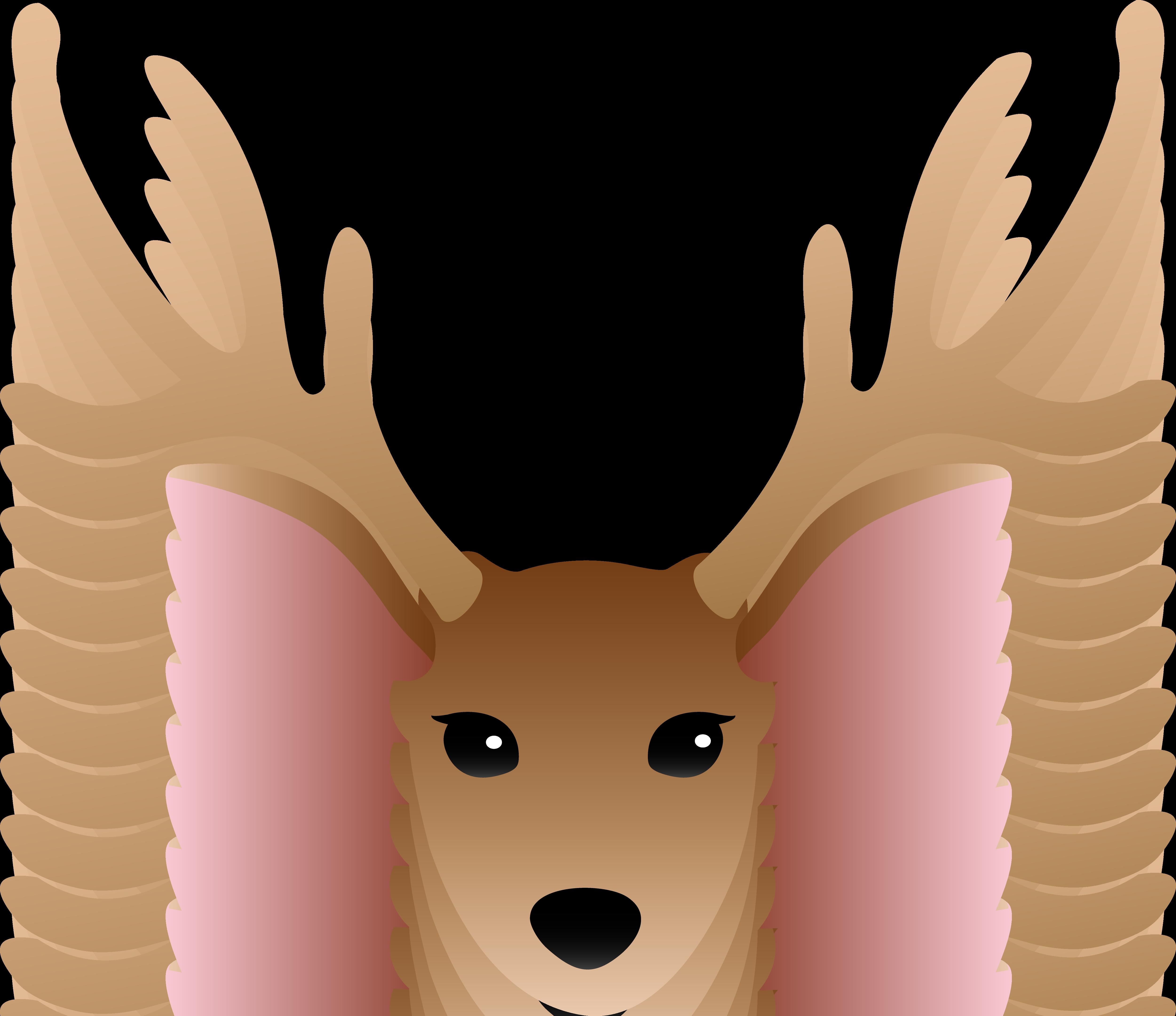 Christmas deer antlers clipart.