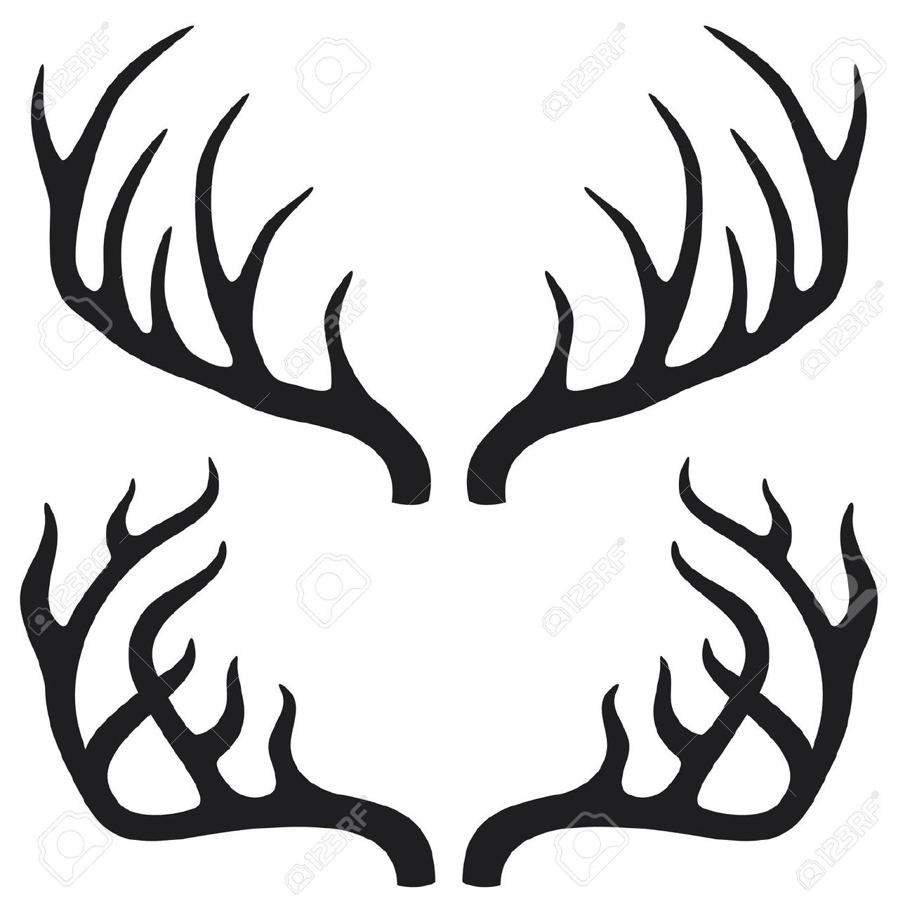 Antlers clipart #18