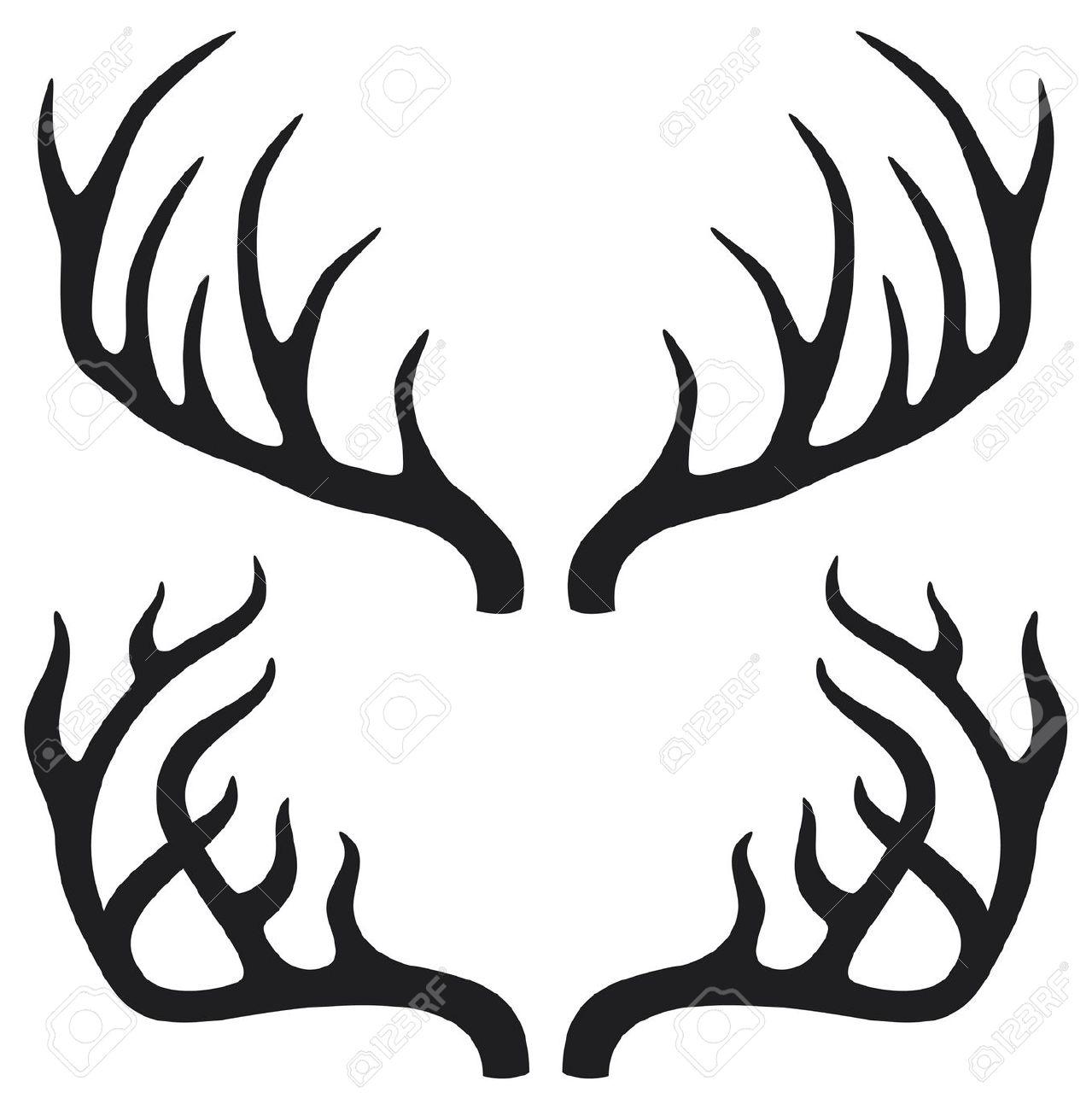 Image De Art Deer And Drawing: Antlers Clipart