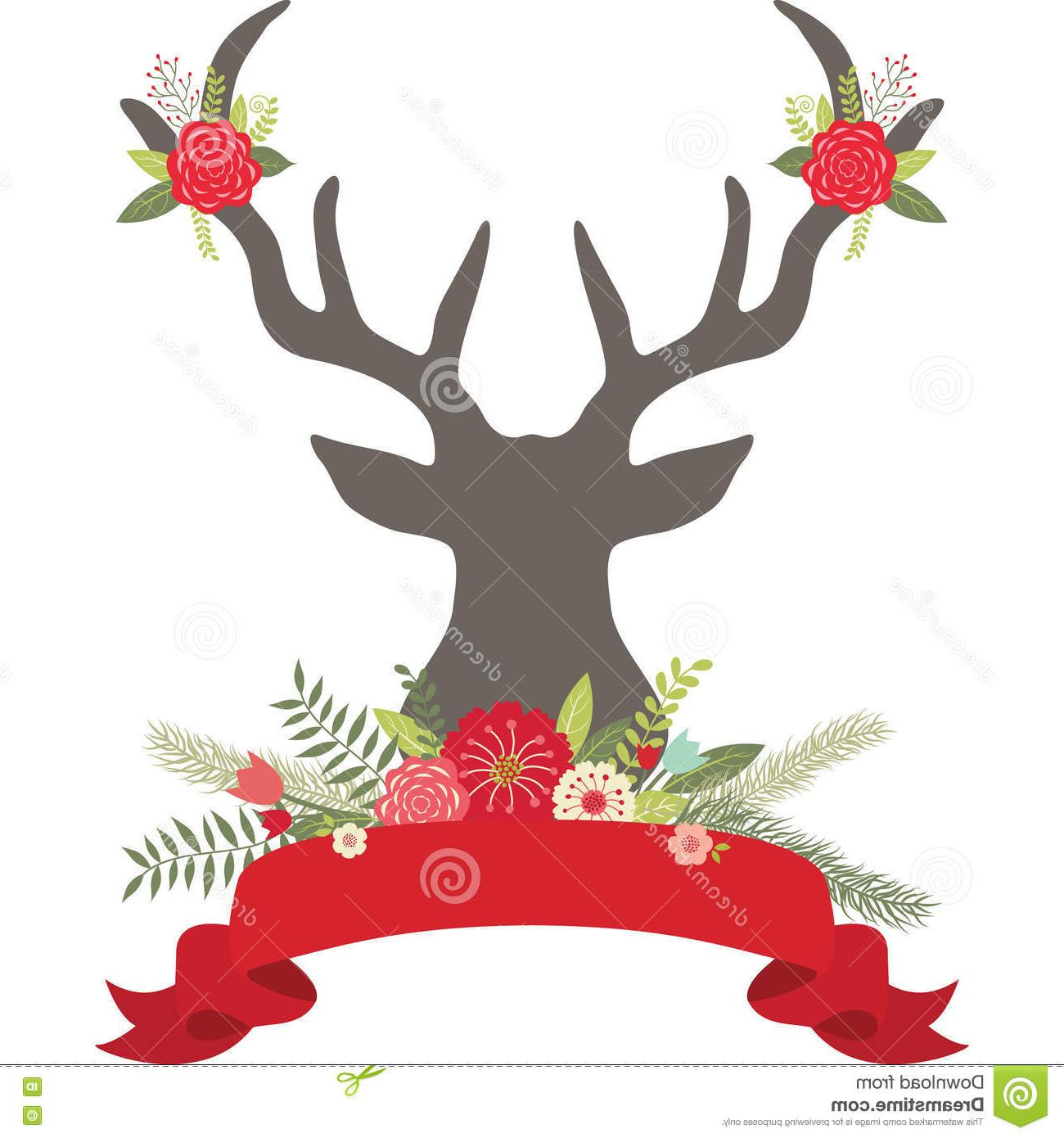 Unique Deer Antler Decor Vector Library » Free Vector Art.