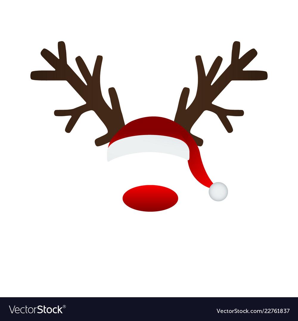 Reindeer antlers and santa hat.