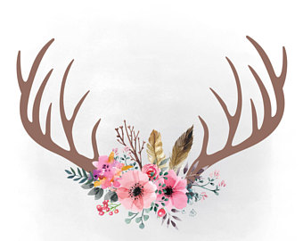 1214 Antlers free clipart.