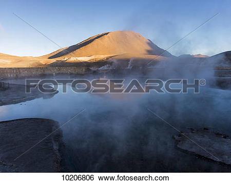 Stock Images of El Tatio geysers; Calama, Antofagasta Region.