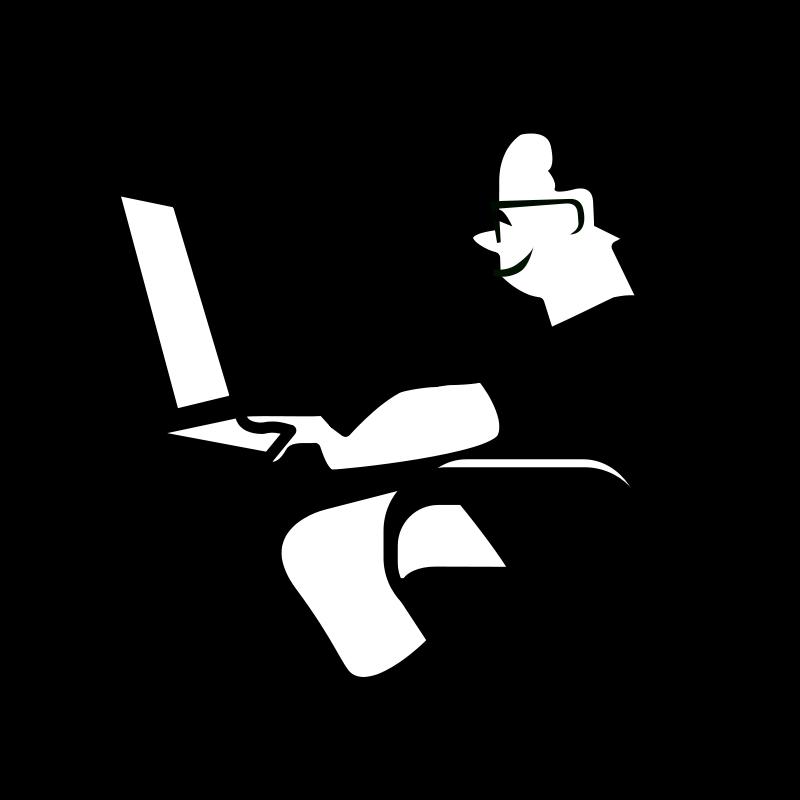 Free Clipart: Personnage_ordinateur.