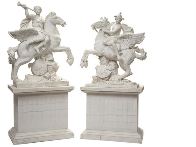 Fame and Mercury pair by Antoine Coysevox on artnet.