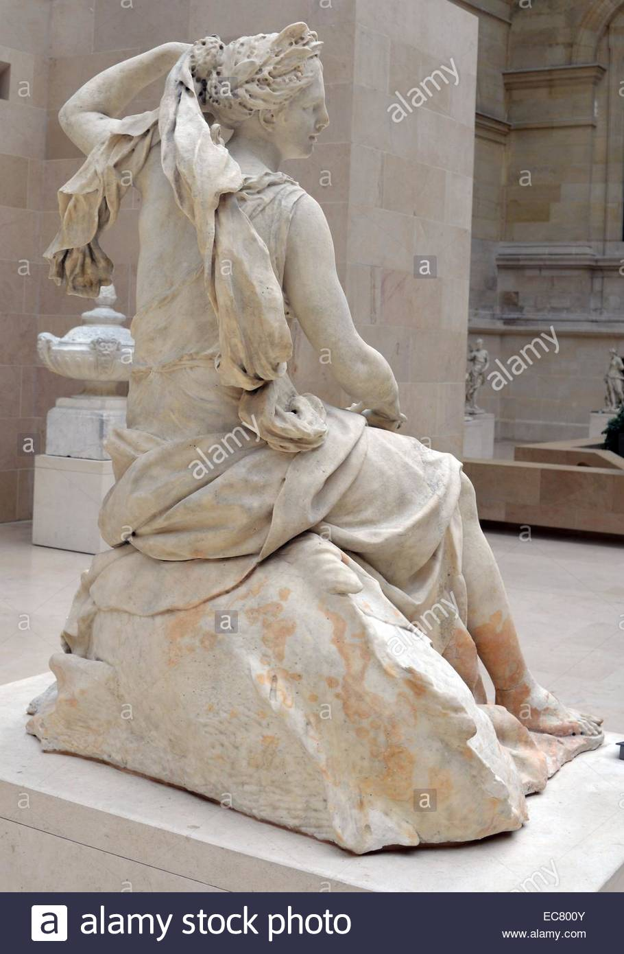 Marble Statue Of Amphitrite, Wife Of Poseidon By Charles Antoine.