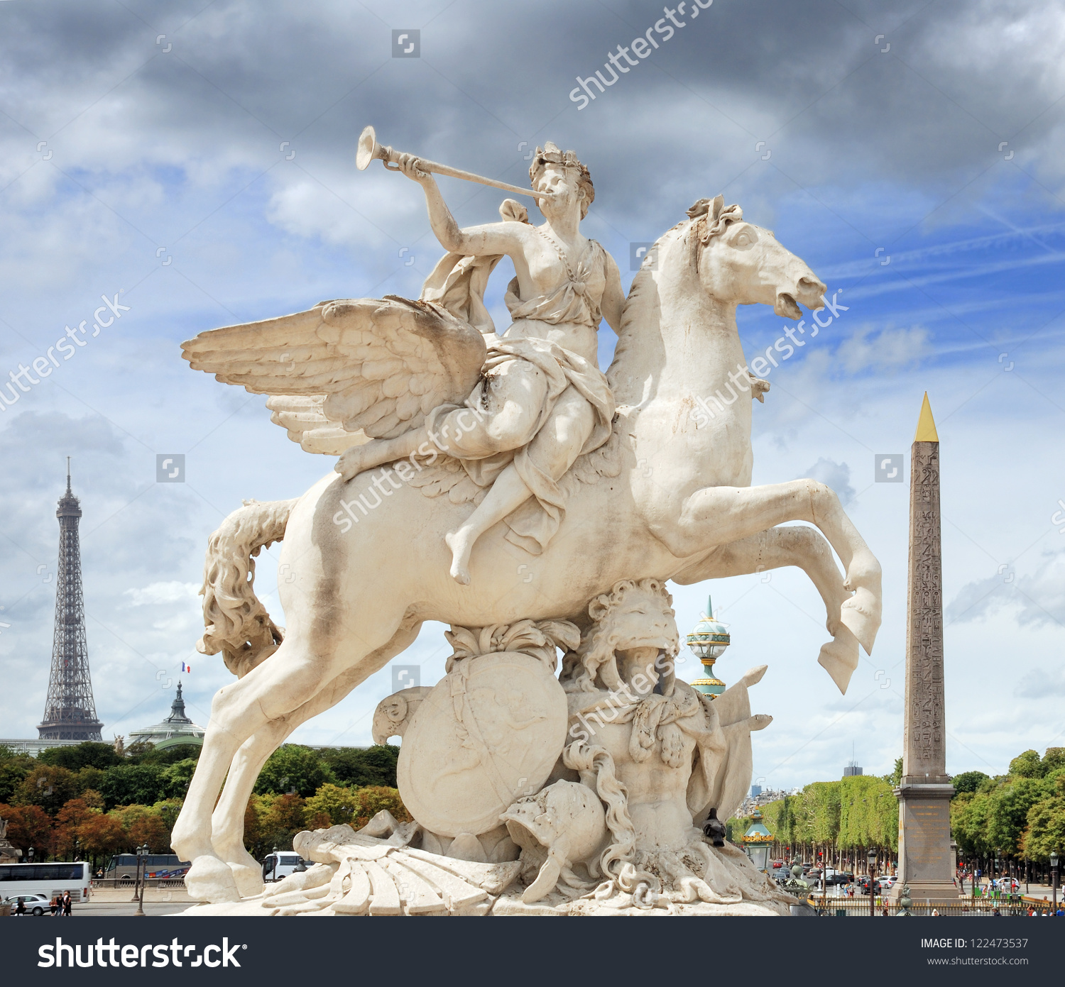 The Statue Of Renommee, Or The Fame Of The King, Riding The Horse.