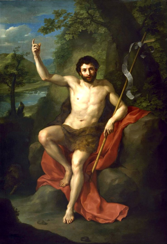 Anton Raphael Mengs, Saint John the Baptist, c. 1760s.