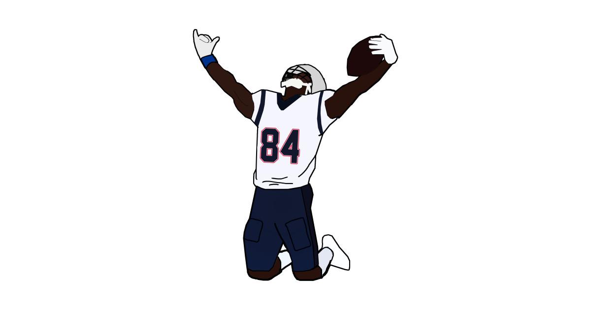 Antonio Brown New England Patriots by xavierjfong.