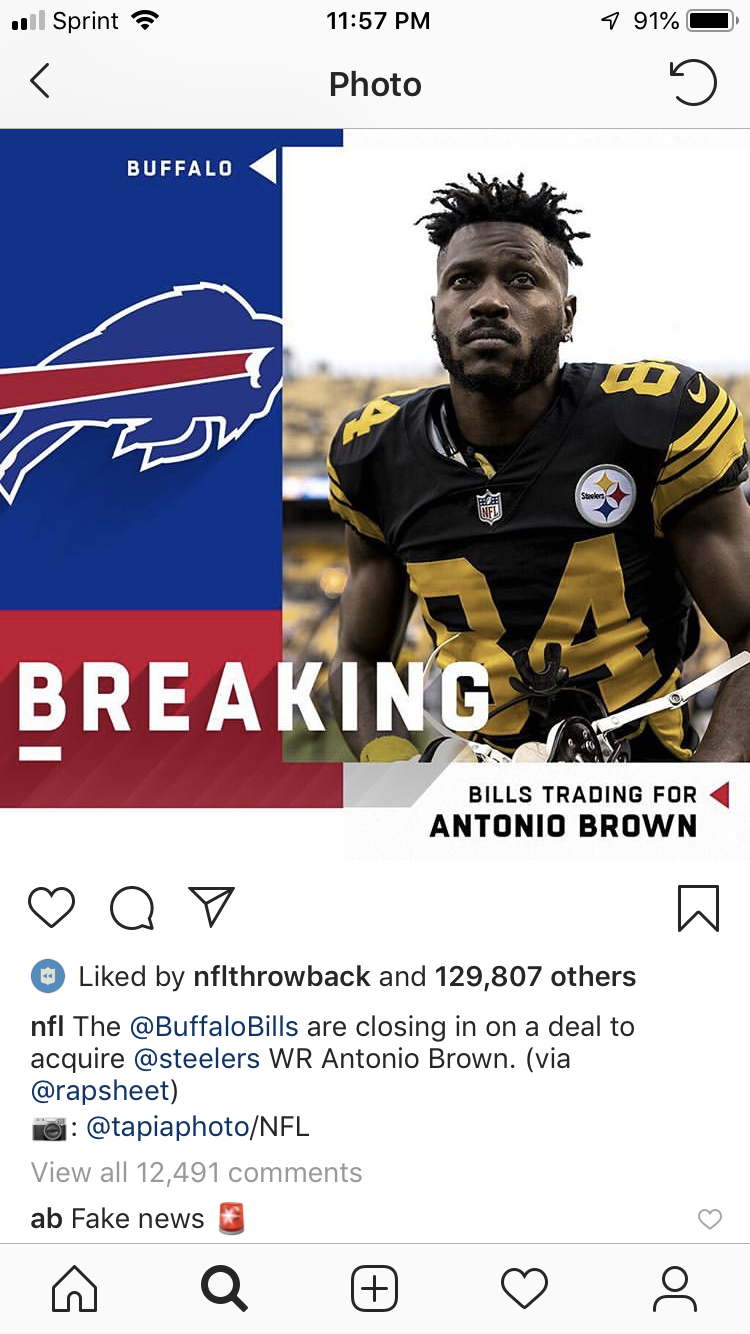 Antonio Brown sweepstakes is really starting to heat up.