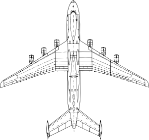 Top View Antonov An Mria Clip Art at Clker.com.