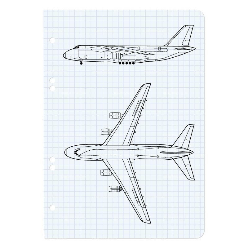 CLIPART ANTONOV 124 BLUEPRINT.