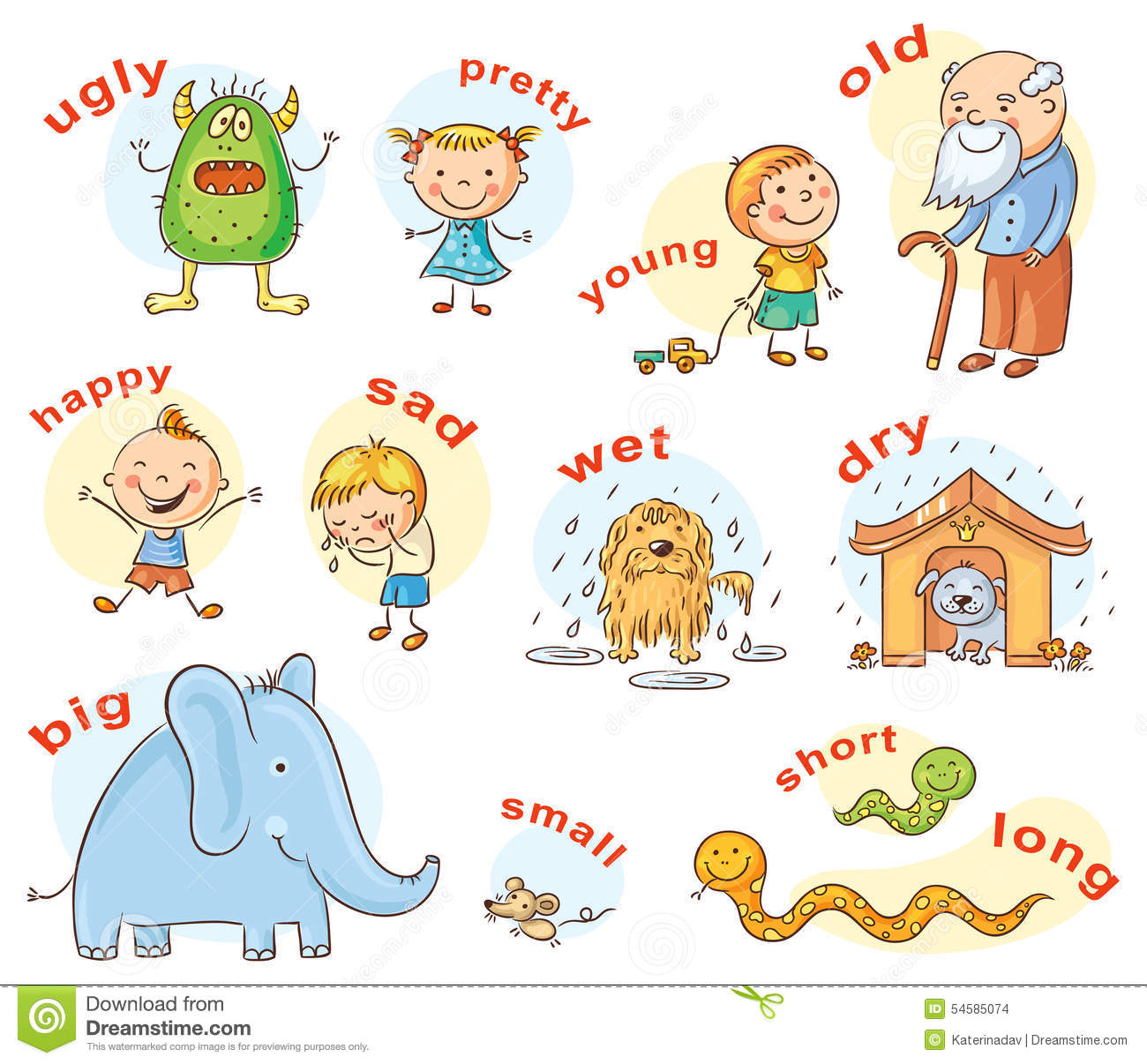Antonym Stock Illustrations.
