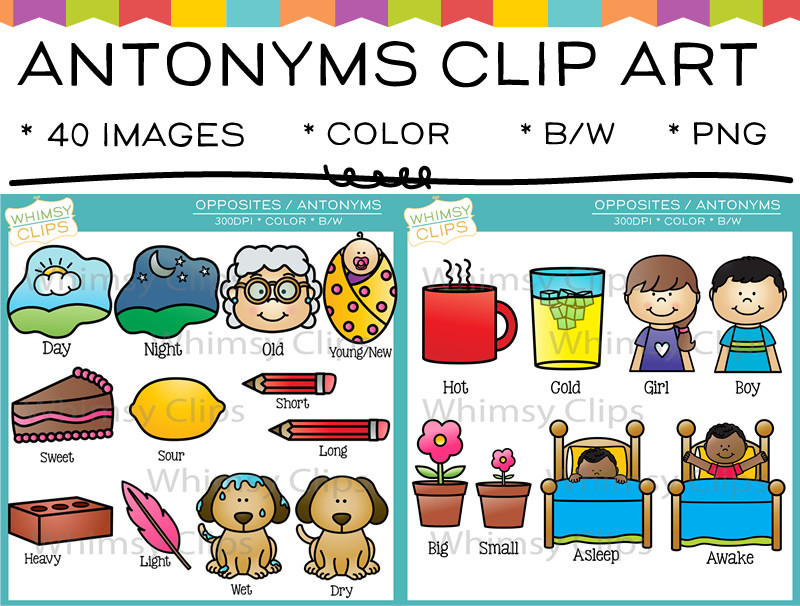 Antonyms Clip Art , Images & Illustrations.