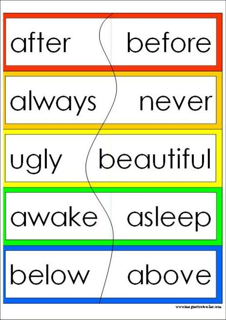 17 Best images about Antonym on Pinterest.