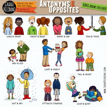 Antonyms clipart 7 » Clipart Station.