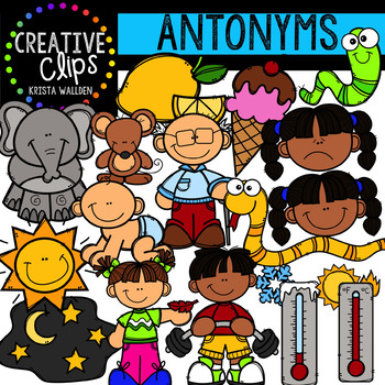 Antonyms Clipart (Adjectives) {Creative Clips Clipart}.