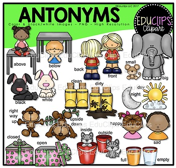 Antonyms Clipart Worksheets & Teaching Resources.