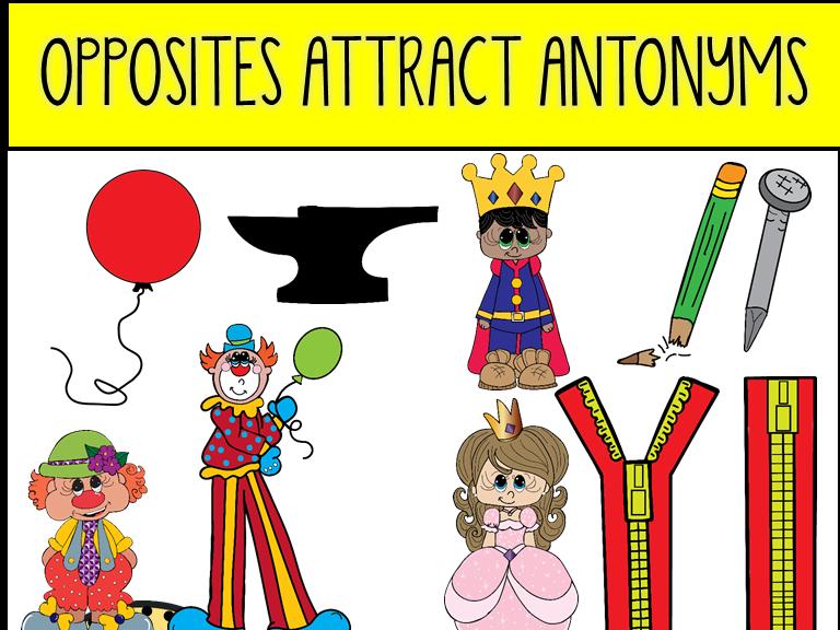 Opposites Attract Antonyms Clip Art.