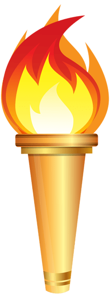 Antorcha Olimpica Clipart PNG transparente.