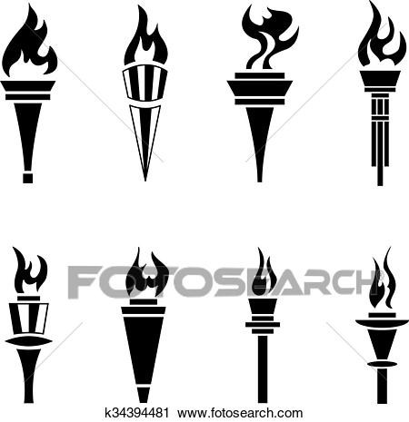 Clipart Of Torch K34394481.