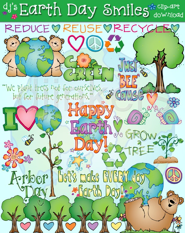 earth day, earth clip art, earth day printables, reduce, reuse.
