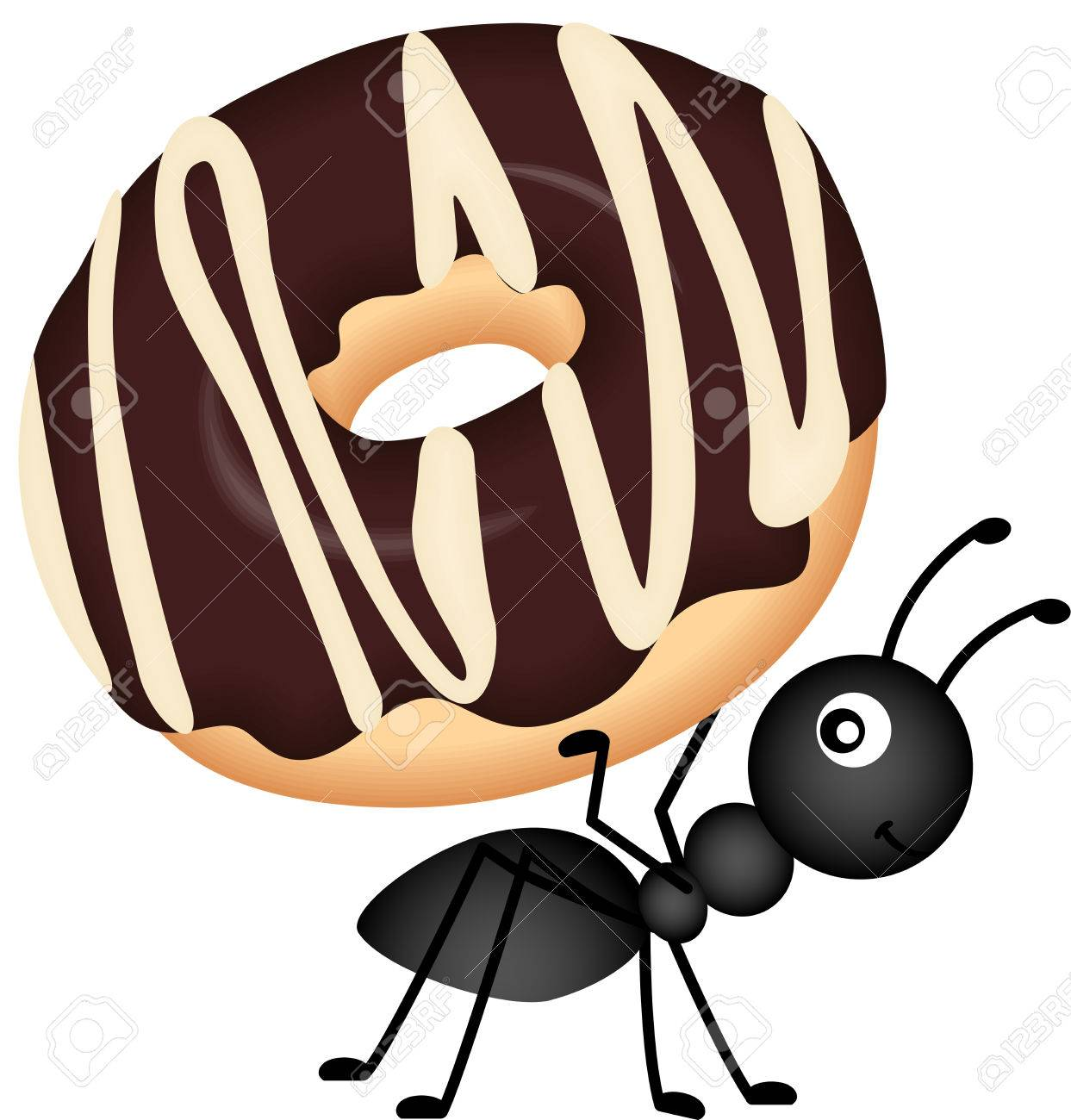 Ant Carrying Clipart.