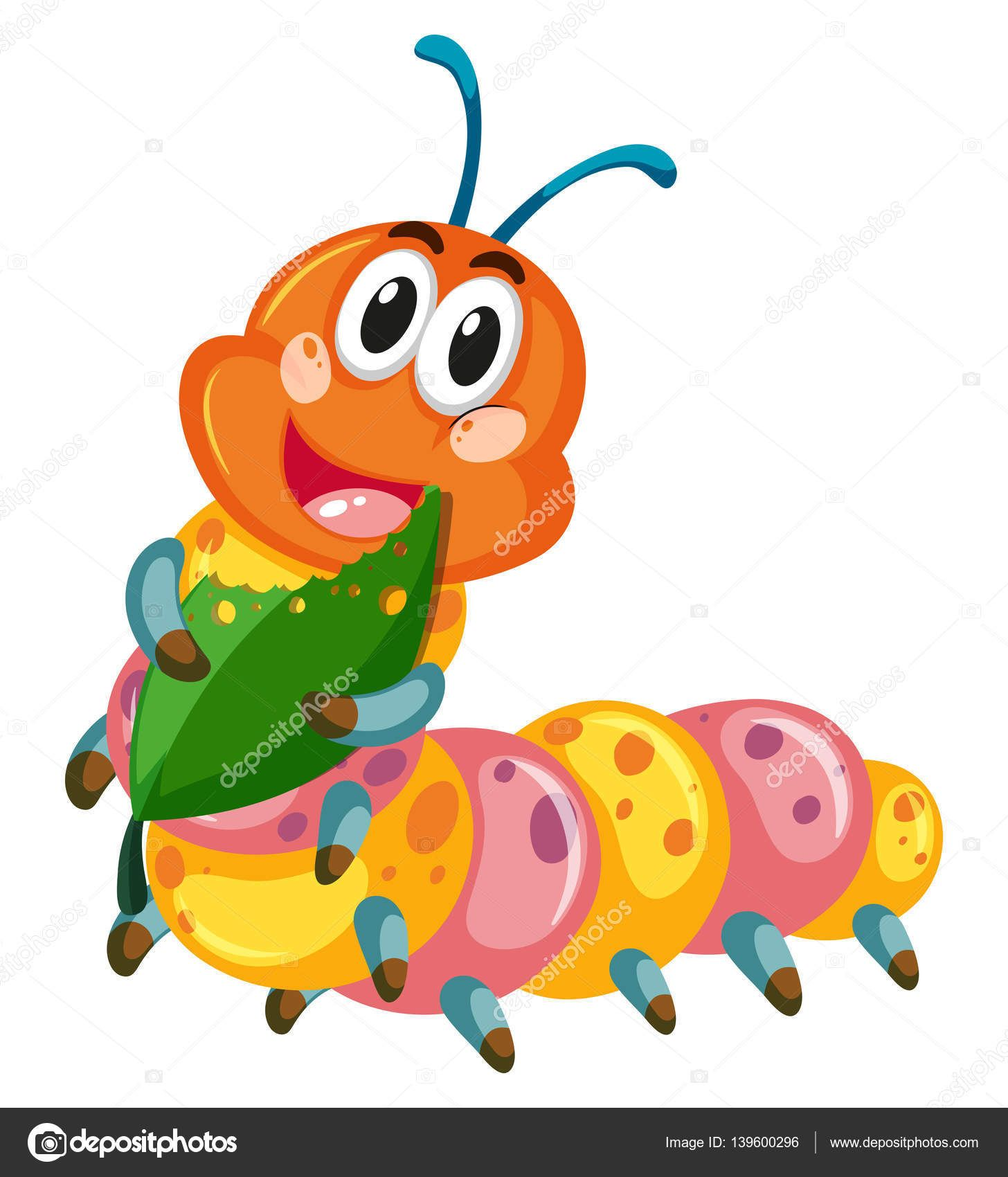 Image result for caterpillar eating leaf clipart.