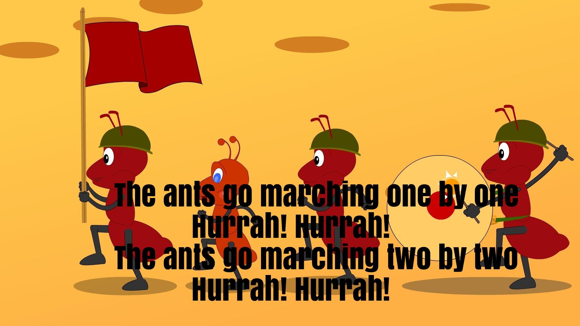The Ants Go Marching Nursery Rhyme Lyrics Super Fun Baby.
