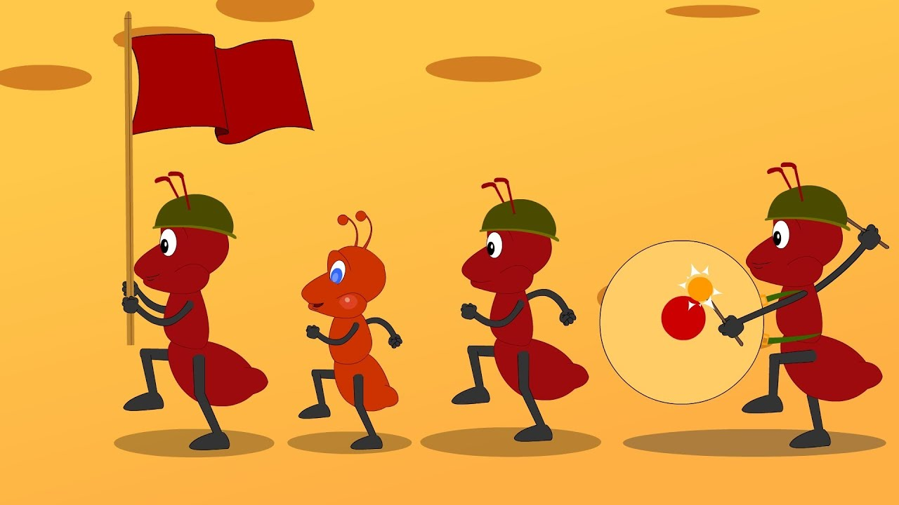 The ants go marching one by one song.