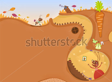 Ants in house clipart.