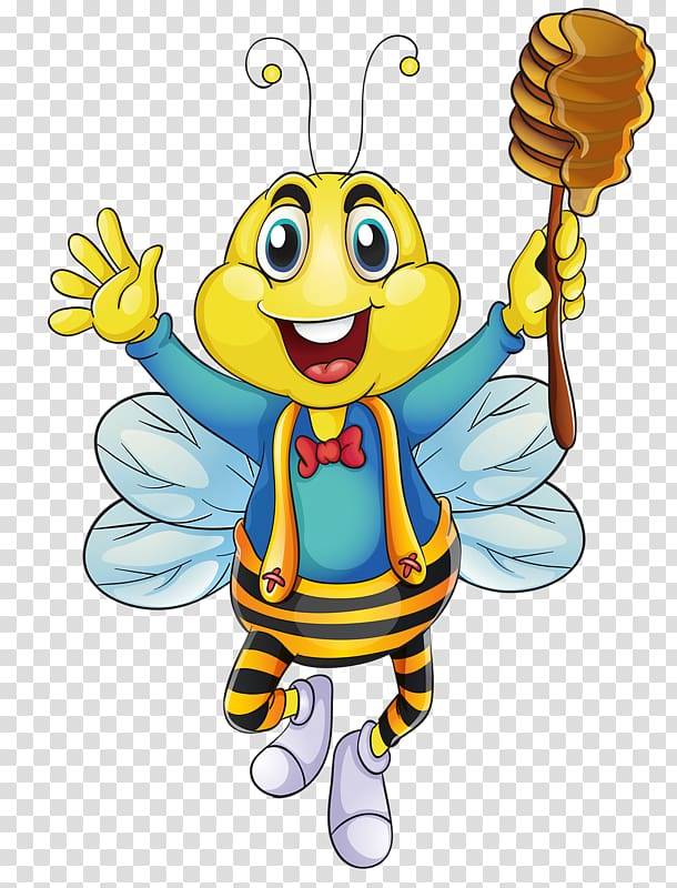 Bee Insect Drawing Illustration, Take sugar ants happy.