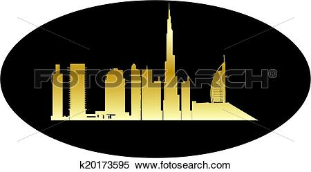 Clipart of antwerp belgium city in gold k20173595.