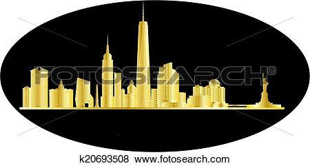 Clip Art of antwerp belgium city in gold k20693508.