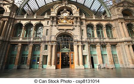 Stock Foto van Antwerpen, station, centraal.