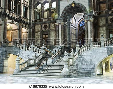 Stock Image of inside of the belgium train station k16876335.