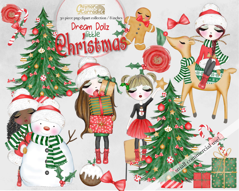 Dream Dollz Little Christmas clipart collection.