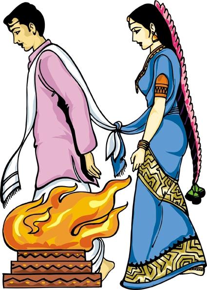 Wedding Logo Clipart Colour.