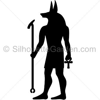 Anubis silhouette clip art. Download free versions of the image in.