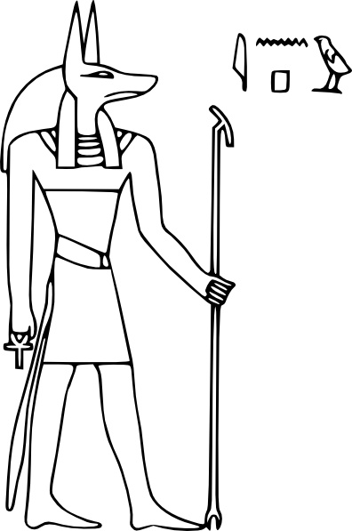 Pharoa God Anubis clip art Free vector in Open office drawing svg.