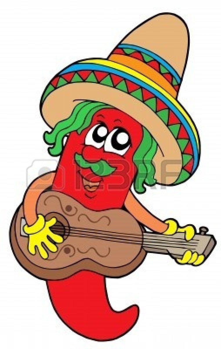 Clipart Anuncios Gratuitos Mexico Mexican Chilli Guitar.