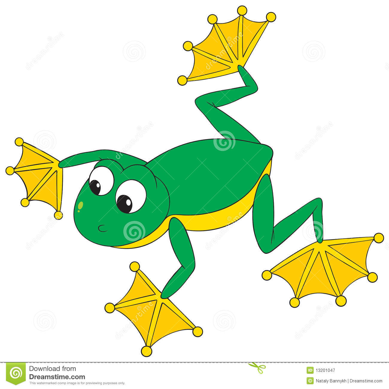 Flying Frog Royalty Free Stock Photography.