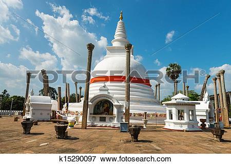 Picture of Thuparamaya dagoba in Anuradhapura, Sri Lanka k15290097.