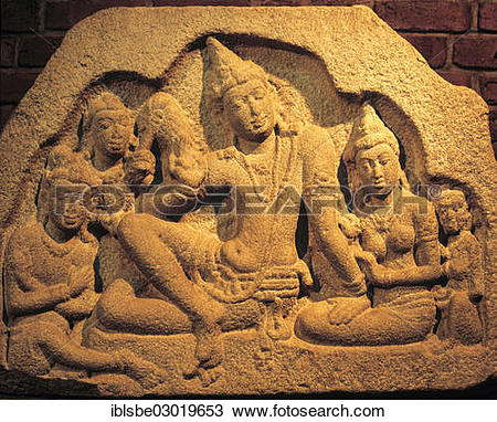 "Stock Photo of ""Raja Pawla, Royal Family, stone relief."