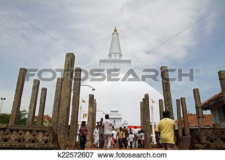 Picture of Ruwanweli saya in Anuradhapura, Sri Lanka k22572607.