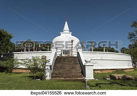 Stock Images of Lankaramaya Dagoba, Lankarama Stupa, Anuradhapura.
