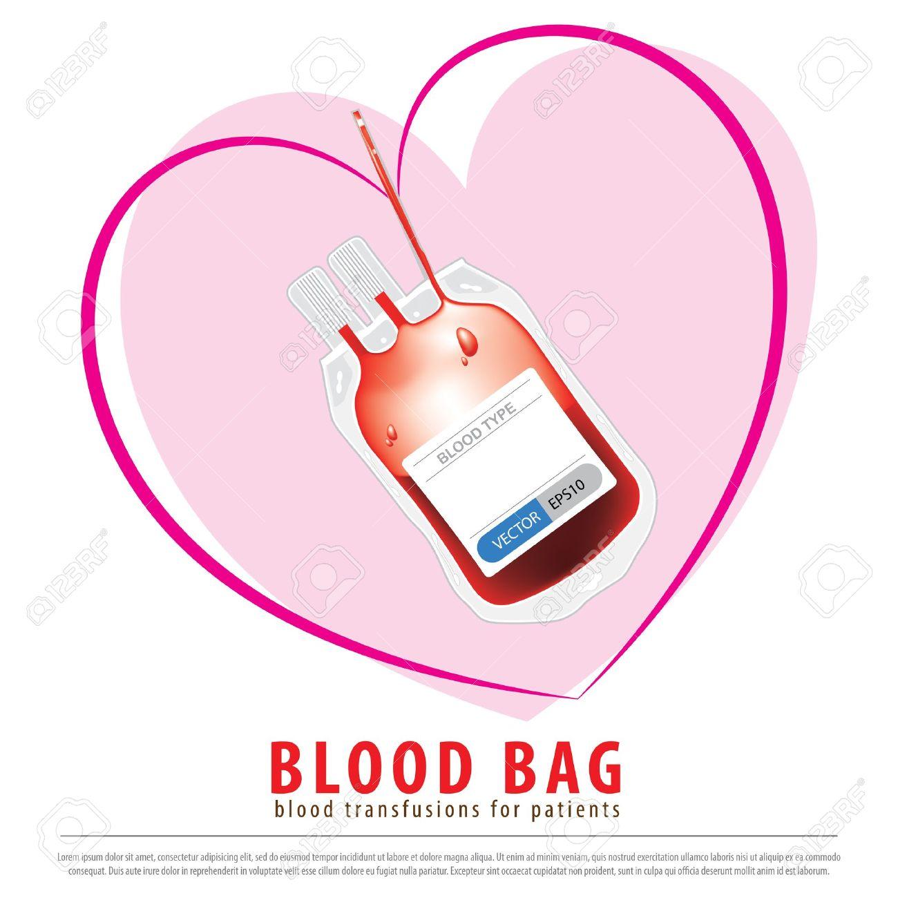 Medicinsk Blodpåse är Flexibel Användning Av Blodtransfusioner För.