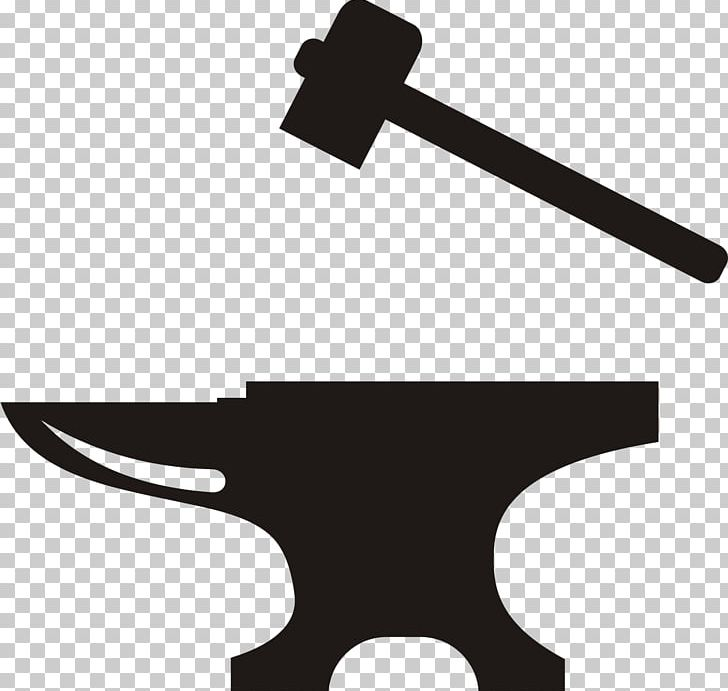 Anvil Blacksmith Hammer PNG, Clipart, Anvil, Black And White.