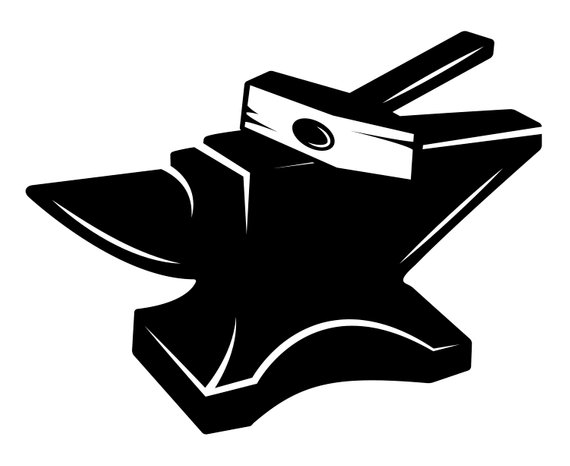 Blacksmith, Anvil, Silhouette,SVG,Graphics,Illustration.
